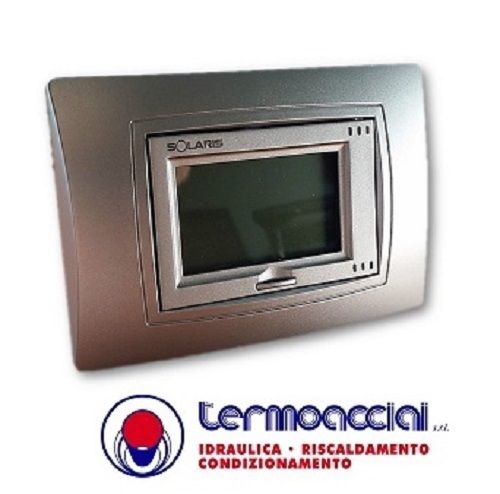 Solaris termostato touch screen sky i bianco silver for Termostato solaris